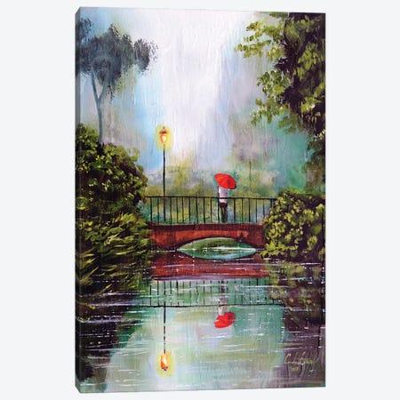 Waiting In The Rain Canvas Print #GOB67} by Gordon Bruce Canvas Wall Art