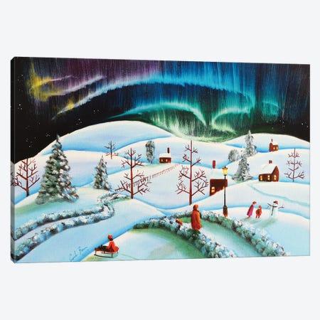The Northern Lights Canvas Print #GOB6} by Gordon Bruce Canvas Artwork