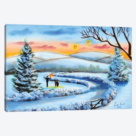 Winter Lanterns Canvas Print #GOB71} by Gordon Bruce Canvas Wall Art