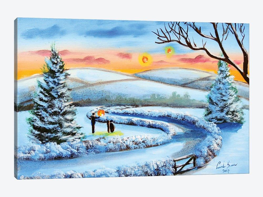 Winter Lanterns by Gordon Bruce 1-piece Canvas Art Print