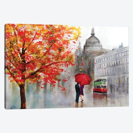 Autumn Rain Canvas Print #GOB72} by Gordon Bruce Canvas Wall Art