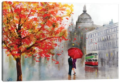 Autumn Rain Canvas Art Print