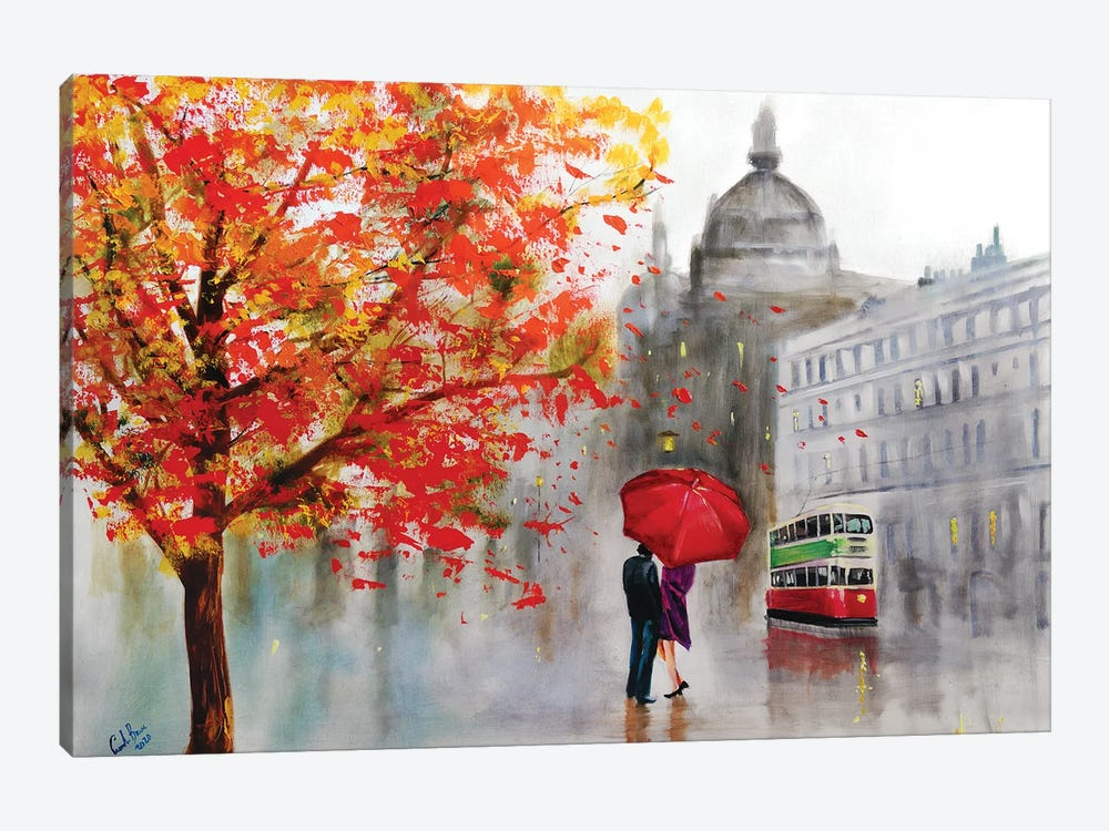 Autumn Rain by Gordon Bruce 1-piece Canvas Artwork