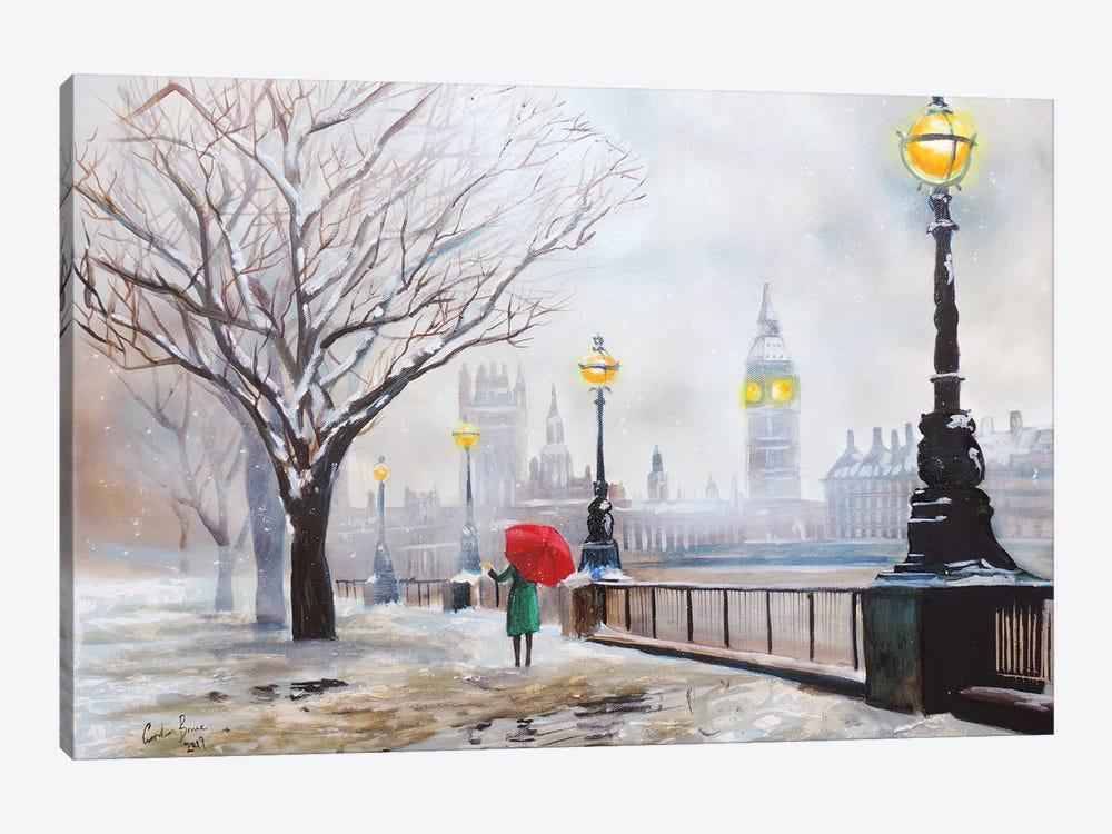 A London Winter by Gordon Bruce 1-piece Canvas Art