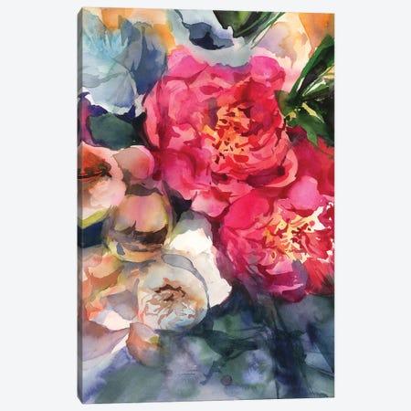 Belle Peonie Canvas Print #GOG11} by Gosia Gregorczyk Canvas Art Print