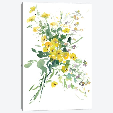 Fiori Gialli I 3-Piece Canvas #GOG30} by Gosia Gregorczyk Canvas Art Print