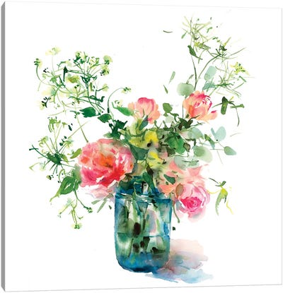 Garden Flowers Canvas Art Print
