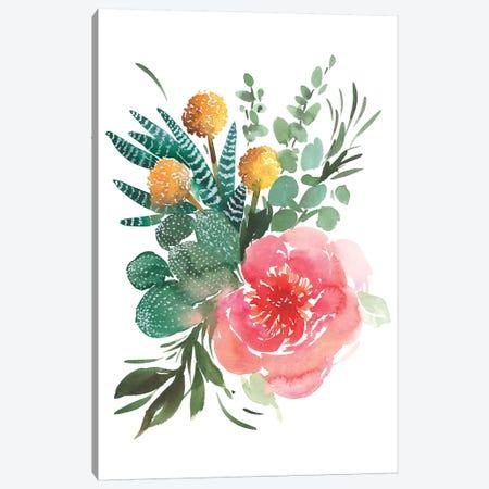 Pink Peony Canvas Print #GOG58} by Gosia Gregorczyk Canvas Print