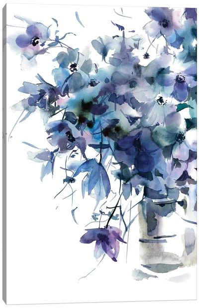 Slate Blue Canvas Art Print