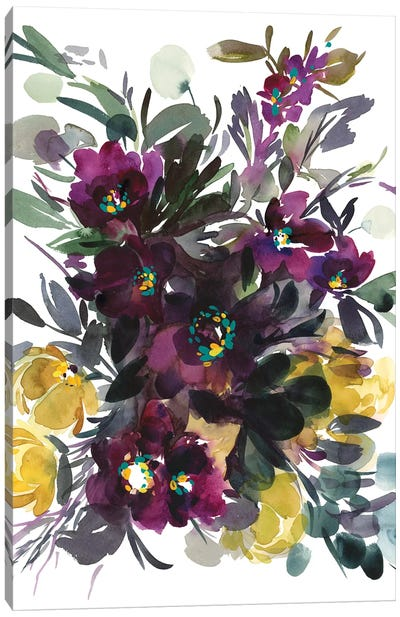 Bacio Viola Canvas Art Print