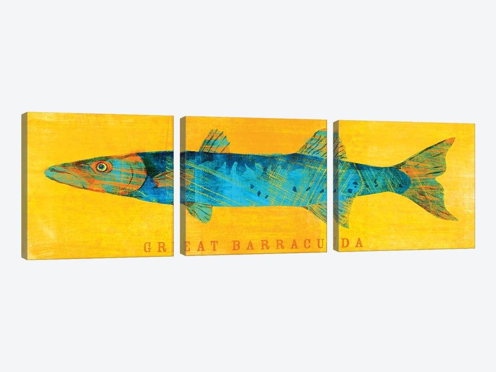 Great Barracuda by John Golden 3-piece Canvas Art Print