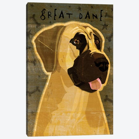 Great Dane - No Crop Canvas Print #GOL109} by John Golden Art Print