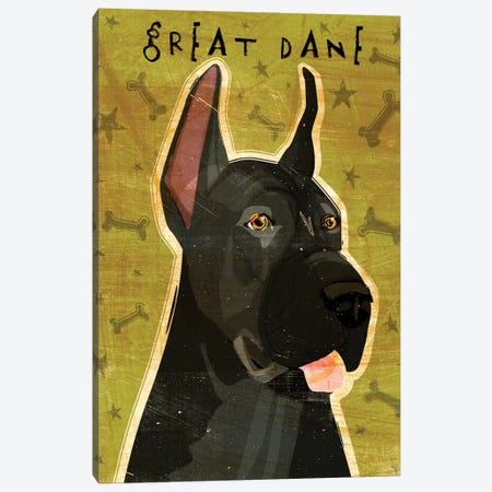 Great Dane - Black Canvas Print #GOL110} by John Golden Canvas Art