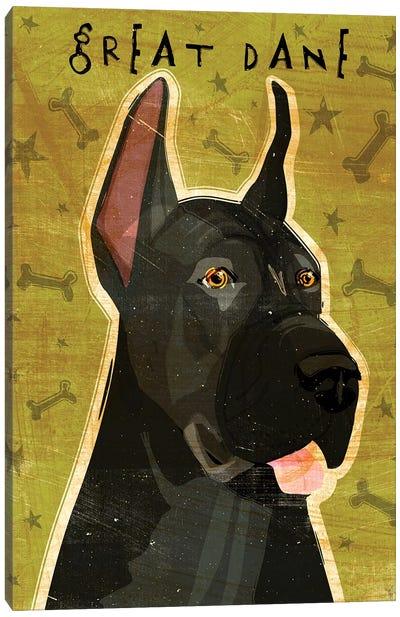 Great Dane - Black Canvas Art Print