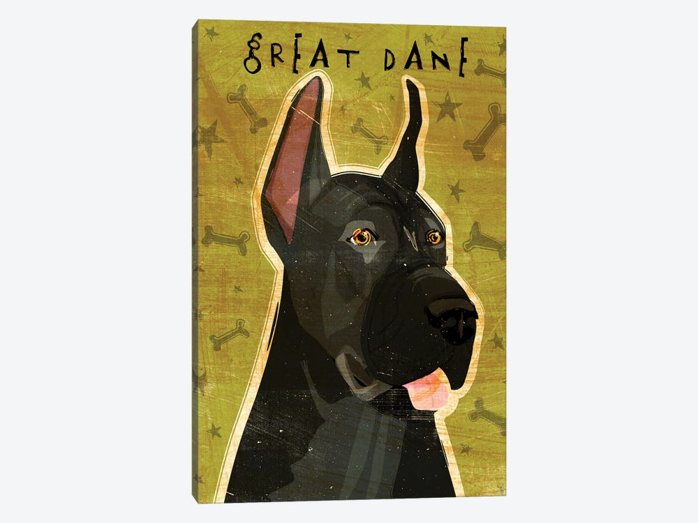 Great Dane - Black by John Golden 1-piece Art Print
