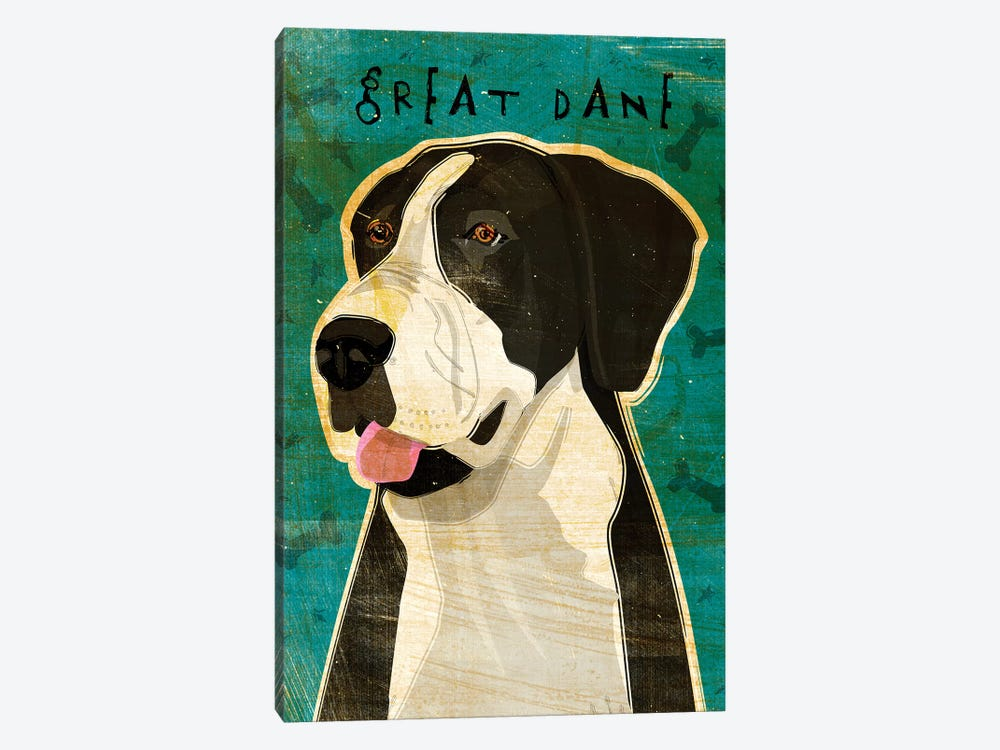 Great Dane - Black & White, No Crop by John Golden 1-piece Art Print