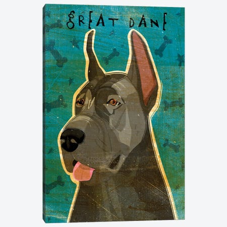 Great Dane - Blue Canvas Print #GOL114} by John Golden Canvas Print