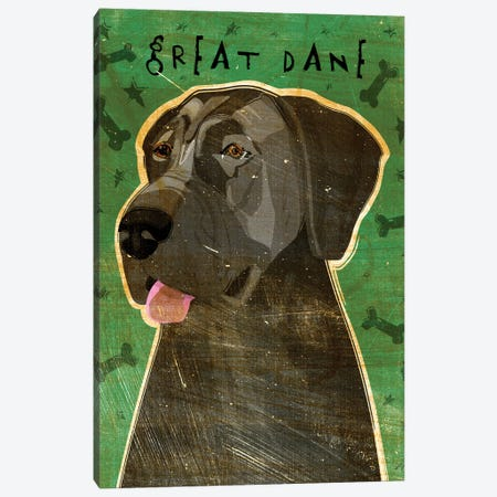 Great Dane - Blue, No Crop Canvas Print #GOL115} by John Golden Canvas Print