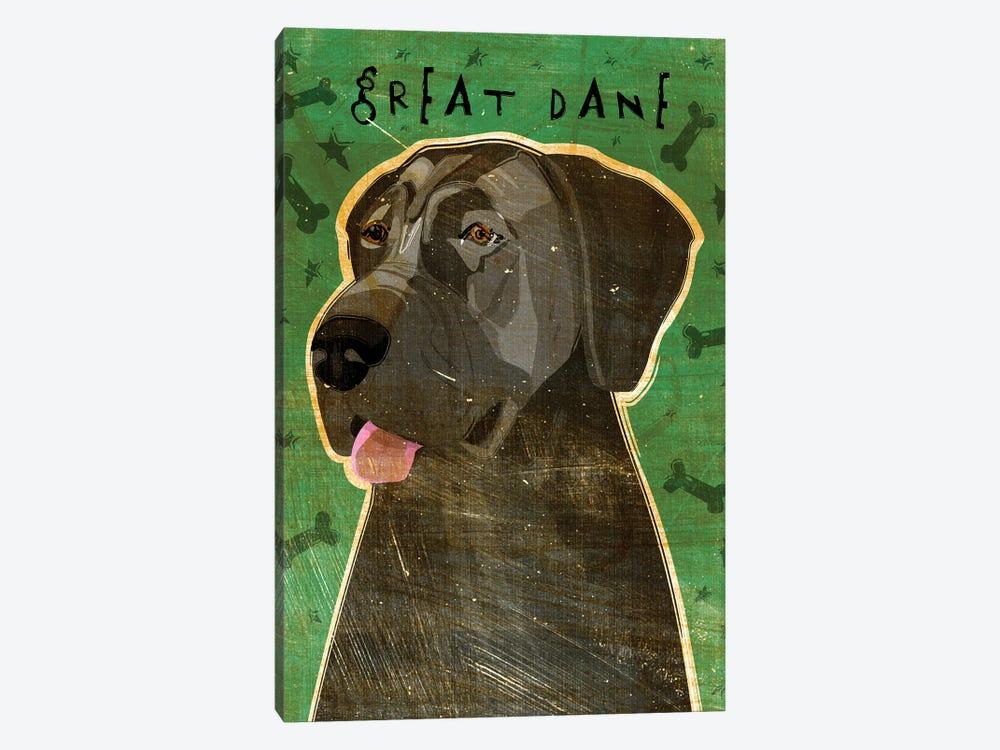 Great Dane - Blue, No Crop by John Golden 1-piece Canvas Art