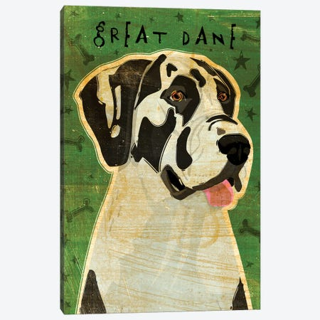 Great Dane - Harlequin, No Crop Canvas Print #GOL117} by John Golden Canvas Print