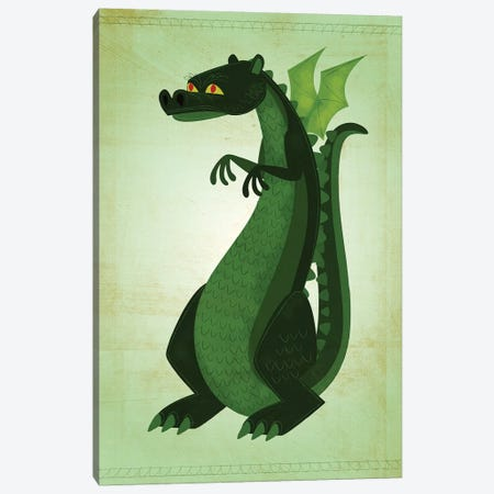 Green Dragon Canvas Print #GOL118} by John Golden Canvas Artwork