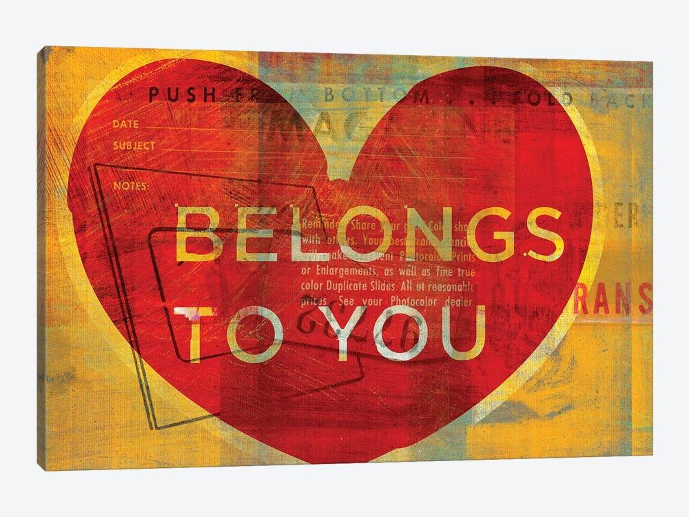 Heart Belongs To You by John Golden 1-piece Canvas Artwork