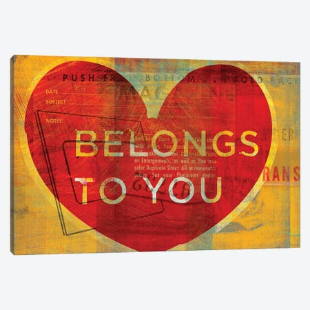 Heart Belongs To You Canvas Print #GOL122} by John Golden Canvas Print