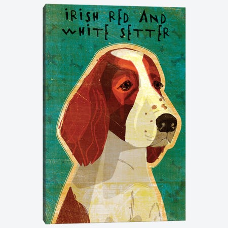 Irish Red And White Setter Canvas Print #GOL125} by John Golden Canvas Art