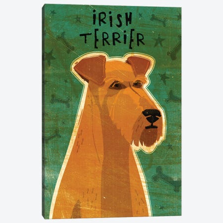 Irish Terrier Canvas Print #GOL127} by John Golden Canvas Artwork