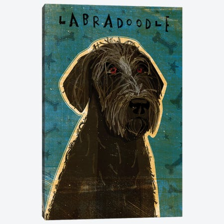 Labradoodle - Black 3-Piece Canvas #GOL138} by John Golden Canvas Art