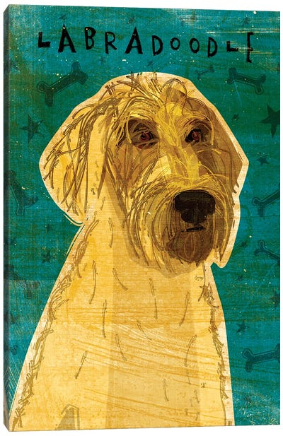Labradoodle - Yellow Canvas Art Print