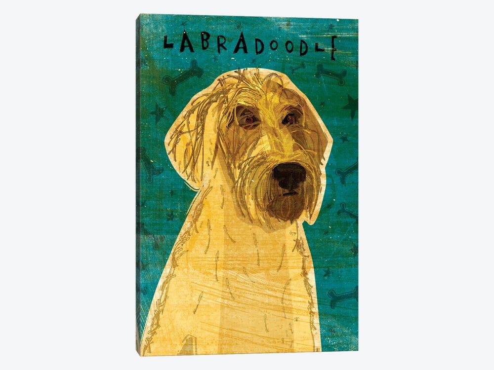Labradoodle - Yellow by John Golden 1-piece Canvas Artwork