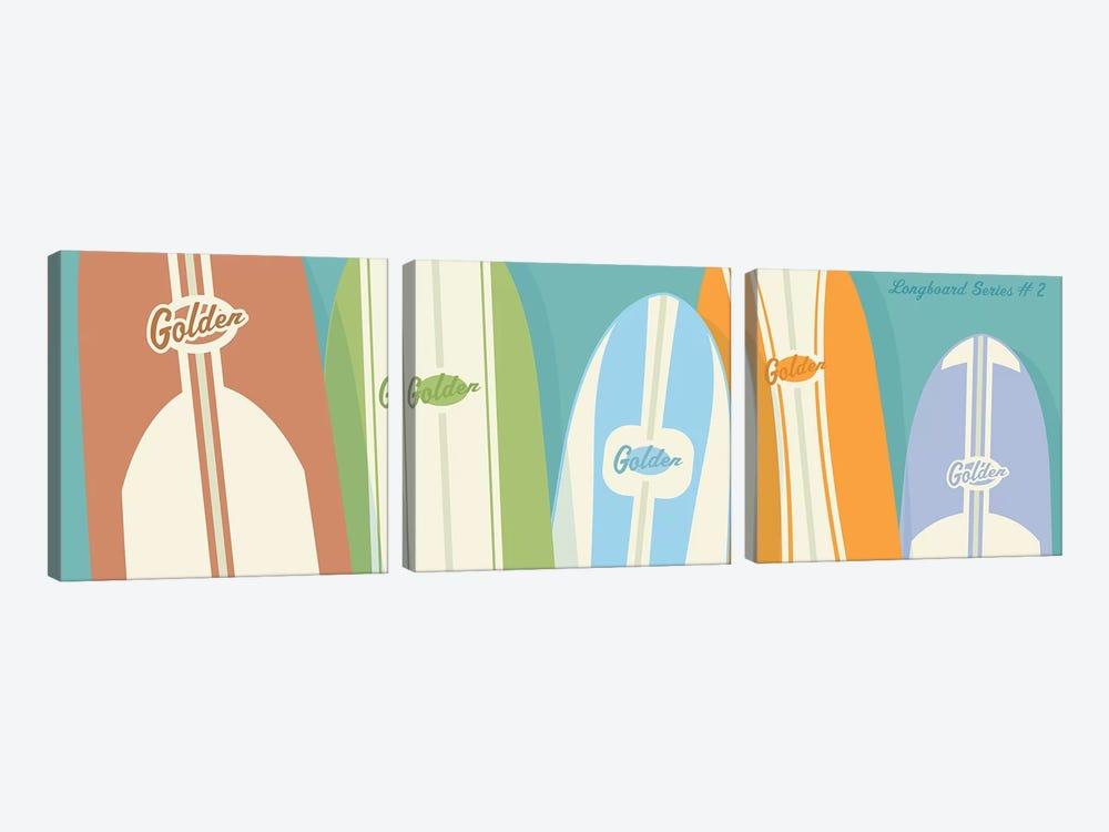 Longboards II by John Golden 3-piece Art Print