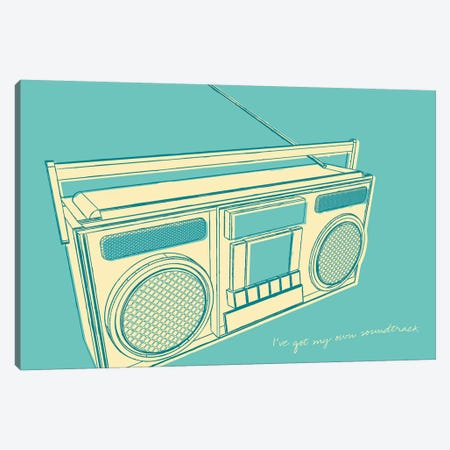 Lunastrella Boombox Canvas Print #GOL148} by John Golden Canvas Art Print