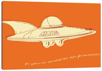 Lunastrella Flying Saucer Canvas Art Print