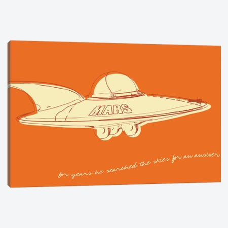 Lunastrella Flying Saucer Canvas Print #GOL149} by John Golden Art Print