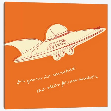 Lunastrella Flying Saucer - Square Canvas Print #GOL150} by John Golden Canvas Wall Art