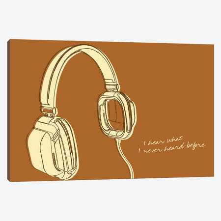 Lunastrella Headphones Canvas Print #GOL151} by John Golden Canvas Art