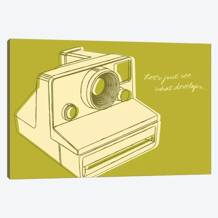 Lunastrella Instant Camera Canvas Print #GOL152} by John Golden Canvas Wall Art