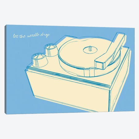 Lunastrella Record Player Canvas Print #GOL157} by John Golden Art Print