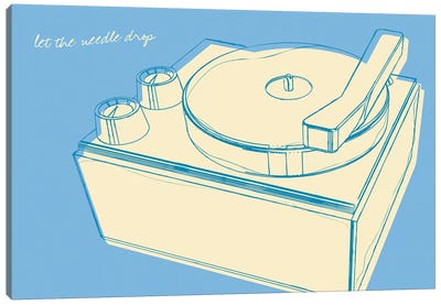 Lunastrella Record Player Canvas Art Print