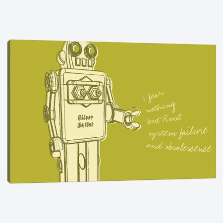 Lunastrella Robot No. 1 Canvas Print #GOL158} by John Golden Canvas Artwork