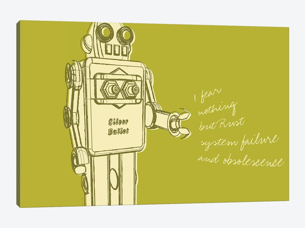 Lunastrella Robot No. 1 by John Golden 1-piece Art Print