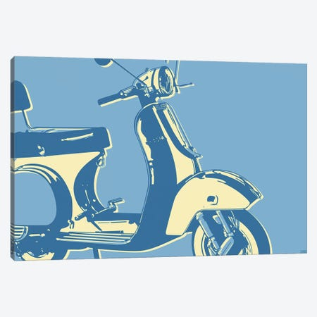 Motoretta Canvas Print #GOL175} by John Golden Canvas Art Print