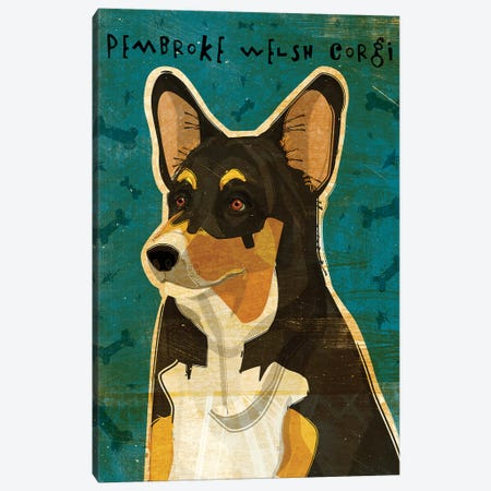Pembroke Welsh Corgi - Tri-Color Canvas Print #GOL196} by John Golden Canvas Art Print