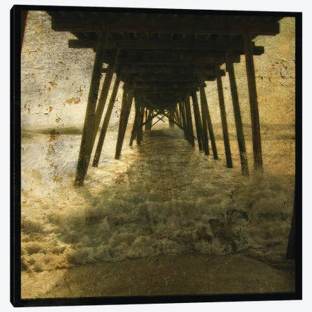 Pier Break Canvas Print #GOL198} by John Golden Canvas Artwork