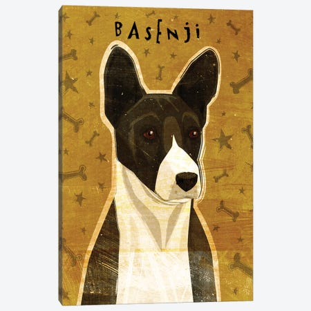 Basenji - Black 3-Piece Canvas #GOL19} by John Golden Canvas Art