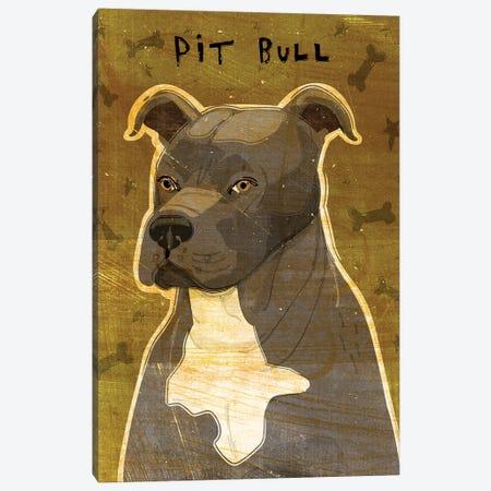 Pit Bull - Gray Canvas Print #GOL202} by John Golden Canvas Art