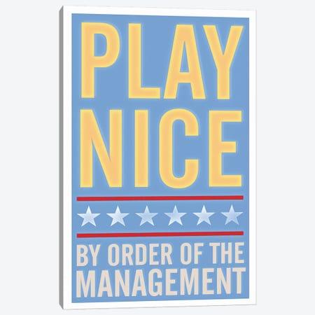 Play Nice Canvas Print #GOL203} by John Golden Canvas Artwork