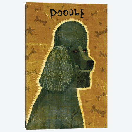 Poodle - Black Canvas Print #GOL206} by John Golden Canvas Art Print